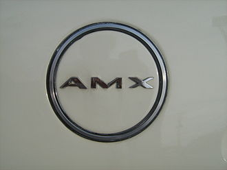 AMC AMX - 1968 and 1969 C-pillar AMX emblem