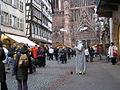 'living statue' Strasburg Christmas Market2.JPG