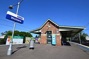 Waitara railway station - Southbound view in December 2012