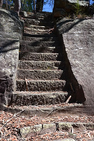 Lane Cove River - Image: (1)steps possibly Harry Smiths 1