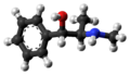 (1S,2R)-Ephedrine molecule from xtal ball.png