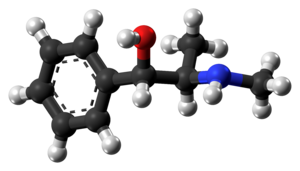 Ephedrine - Image: (1S,2R) Ephedrine molecule from xtal ball
