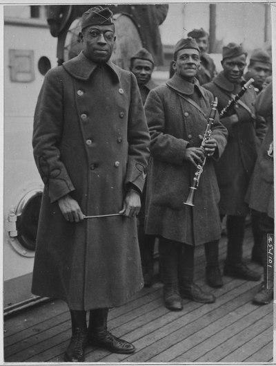 Lieutenant James Reese Europe et ses musiciens