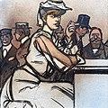 (Albi) Elégant en robe blanche à la cigarette (1910) - Maxime Dethomas.jpg