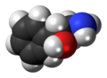 (R)-Phenylethanolamine molecule spacefill.png