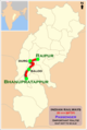 (Raipur - Bhanupratappur) Passenger Route map.png