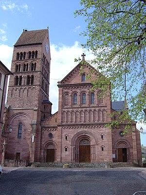 Jean-Baptiste Schacre - Image: Église St Pantaléon de Gueberschwihr façade