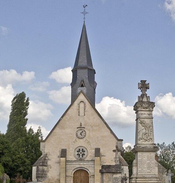 église de la Trinité, monument aux morts, Roullée, Villeneuve-en-Perseigne, 72600, France