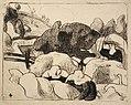 Émile Bernard Femmes faisant les Foins (Women Making Haystacks).jpg