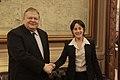 Συνάντηση ΑΚΥΠΕΞ Ευ. Βενιζέλου με την Πρέσβη του Ισραήλ στην Ελλάδα Irit Ben-Abba (15514120229).jpg