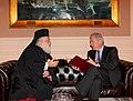 Συνάντηση ΥΠΕΞ Δ. Αβραμόπουλου με τον Πατριάρχη Αλεξανδρείας Θεόδωρο Β' (8615265811).jpg