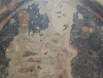 Theodore I Palaiologos - Fresco from the Church of the Virgin Hodegetria in Mystras representing the despot Theodore I as ruler and monk.