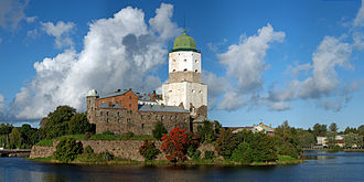 Karelia - Viipuri Castle at the Finnish Gulf. Viipuri was called the capital of Karelia when it was a part of Finland.