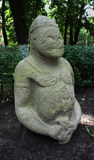 Cumans - Cuman sculpture in Kharkiv, Ukraine.