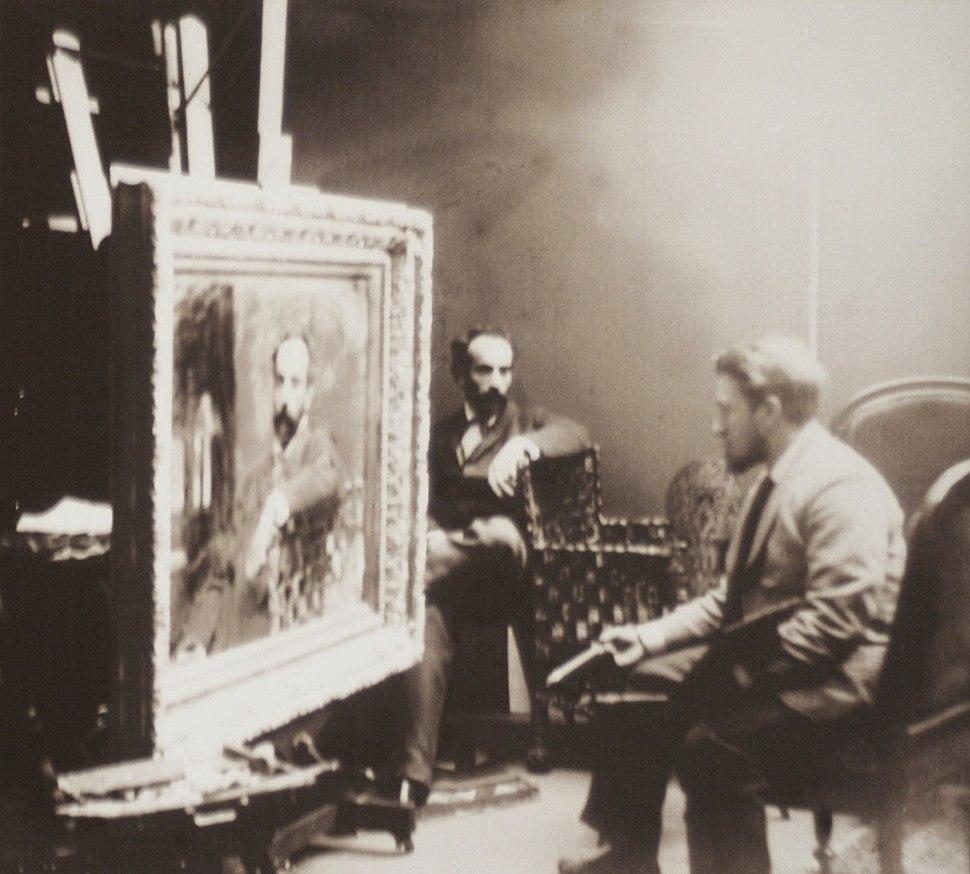 Мастерская И. Левитана. 1890-е.07