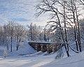 Ораниенбаум зимний. Верхний парк. Петровский мост на реке Караста.jpg
