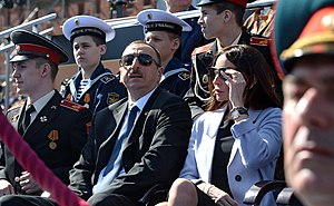 Ilham Aliyev - Ilham Aliyev with his first lady during the Moscow Victory Day Parade, 9 May 2015