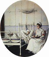 Медицинская сестра Википедия Василий Верещагин Письмо на родину Старшая медицинская сестра оказывает помощь