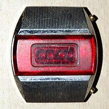 2f60be7f «Электроника-1» — первые советские электронные наручные часы. Чтобы узнать  время, необходимо было нажать на кнопку, загорались светодиоды.