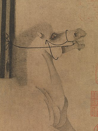 Night-Shining White - The look of the horse conveys his emotional state.