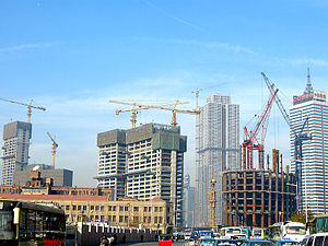 Tianjin World Financial Center - Image: 津塔2008年11月28日