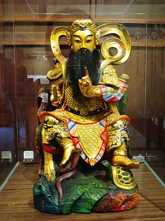 Xuanwu (god) - The Statue of Zhenwu or Xuantian, by Zheng, Yong Tai (Penghu)
