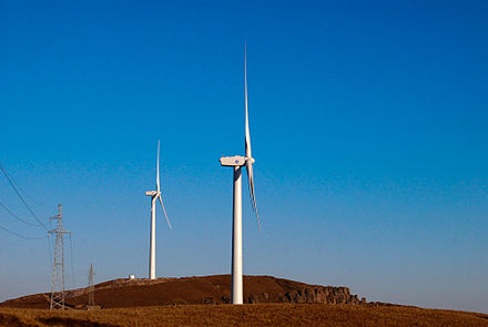 Onshore Horizontal Axis Wind Turbines in Zhangjiakou, China Xi Dian Zi Liang Feng Che .jpg