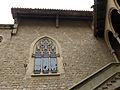 039 Castell de Santa Florentina (Canet de Mar), pati, finestral del saló del tron.JPG