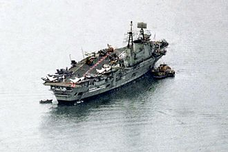 HMS Eagle (R05) - HMS Eagle moored in Gibraltar in January 1970