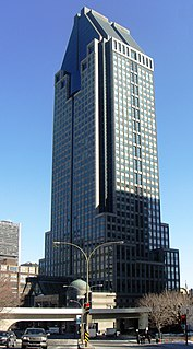 1000 de La Gauchetière skyscraper in Montreal, Quebec, Canada
