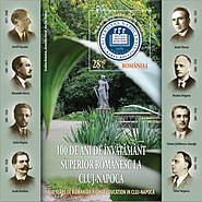 100 of education in Cluj-Napoca 2019 stampsheet of Romania