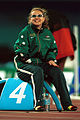 141100 - Athletics track Amy Winters pre race - 3b - 2000 Sydney race photo.jpg