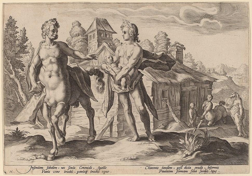 1590. Apollo Entrusting Chiron with the Education of Aescalapius - etching - Washington DC, NGA