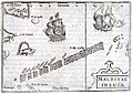 1598 Middleburg Bertius Maldives map latin.jpg