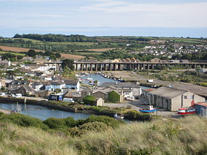 Hayle - Image: 1646 Hayle Estuary from the electric works