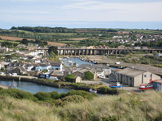 Hayle town, civil parish and cargo port in west Cornwall, England