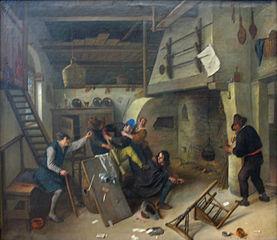 A Brawl among Cardplayers in a Tavern