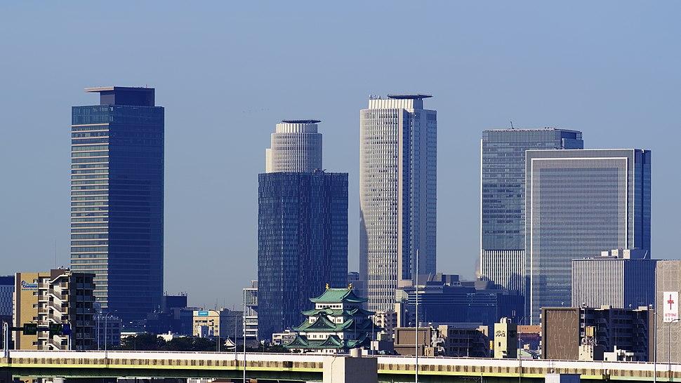180324 Nagoya Castle & Skyscrapers in Meieki