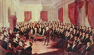 Constituent assembly - The Virginia Constitutional Convention, 1830 (George Catlin, ca. 1830). Many state constituent assemblies, like the 1830 Virginia Constitutional Convention, were highly formalized but the legitimacy of the constitution they drafted depended on whether it was authorized by the people, not whether a particular procedure was followed.