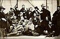 1845. Н. В. Гоголь в группе русских художников в Риме.jpg