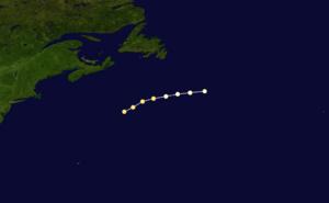 1863 Atlantic hurricane season - Image: 1863 Atlantic hurricane 2 track