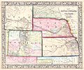 1864 Mitchell Map of Colorado, Kansas ^ Nebraska - Geographicus - COKANE-mitchell-1864.jpg