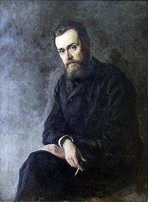 Gleb Uspensky - Portrait of Uspensky by Nikolay Yaroshenko, 1884.