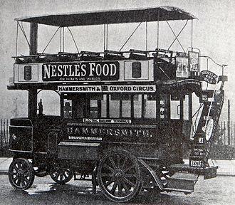 Steam bus - 1902 Thornycroft used by London Road-Car Co Ltd