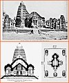 1910 sketches, Gondeshwar temple Sinnar, Nashik temple overview, cross section and plan.jpg