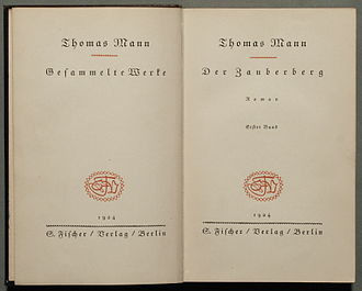 The Magic Mountain - Der Zauberberg, first German edition, 1924