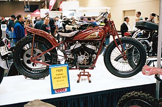 Indian Scout (motorcycle) - 1929 Indian Model 101 modified for hillclimbing