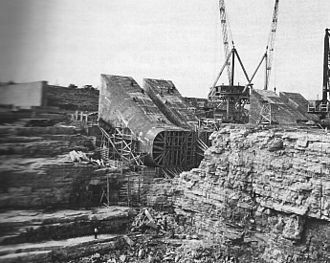 Beauharnois Canal - Construction on Beauharnois Canal in 1930