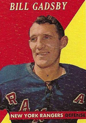 Bill Gadsby - Image: 1958 Topps Bill Gadsby