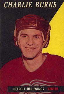 Charlie Burns American-born Canadian ice hockey player